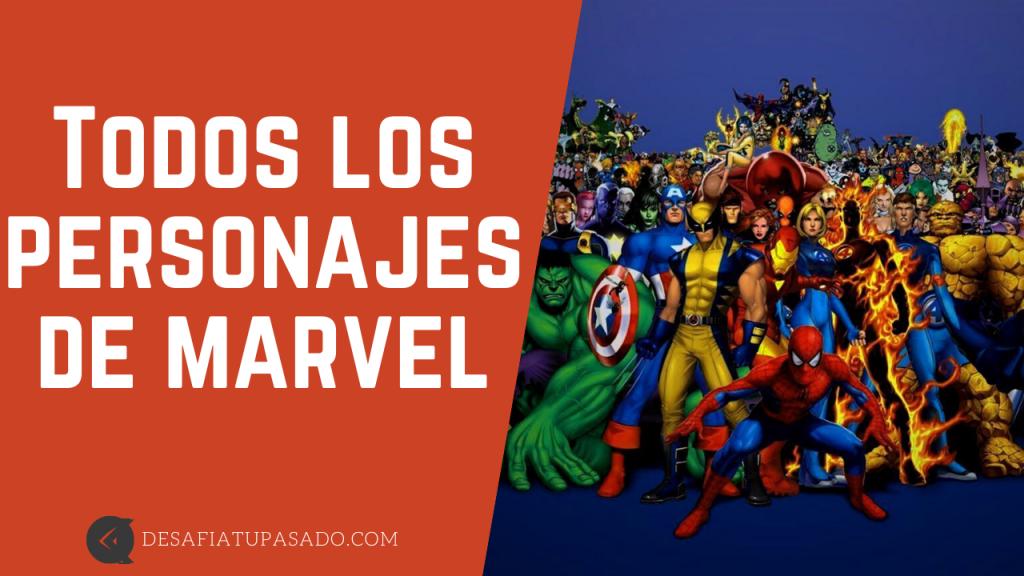 Todos los personajes de marvel